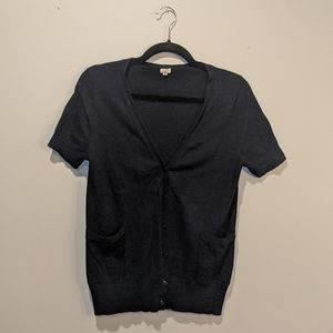 EUC J.Crew Navy Short Sleeve Cardigan, medium